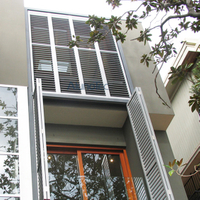 Aluminum Folding Shutter Window