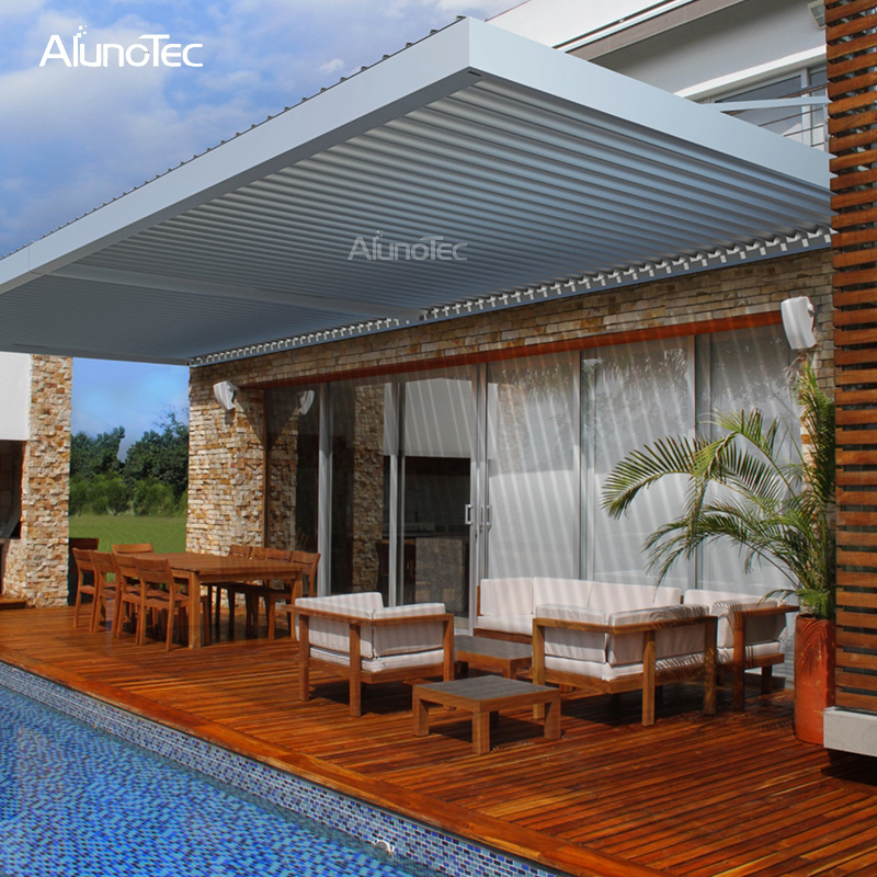 Motorized Retractable Patio Canopy Pergolas Roof With Rain ...